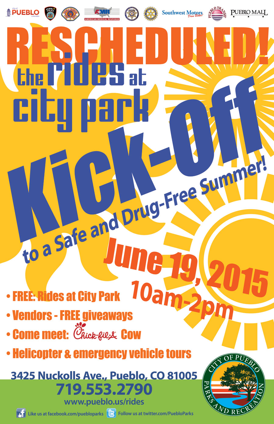 RESCHEDULED - Kick-off to a Safe and Drug-free Summer