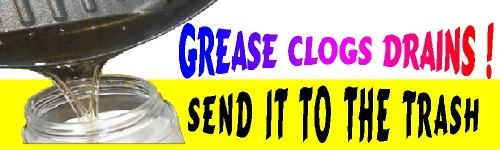 Grease Clogs Drains