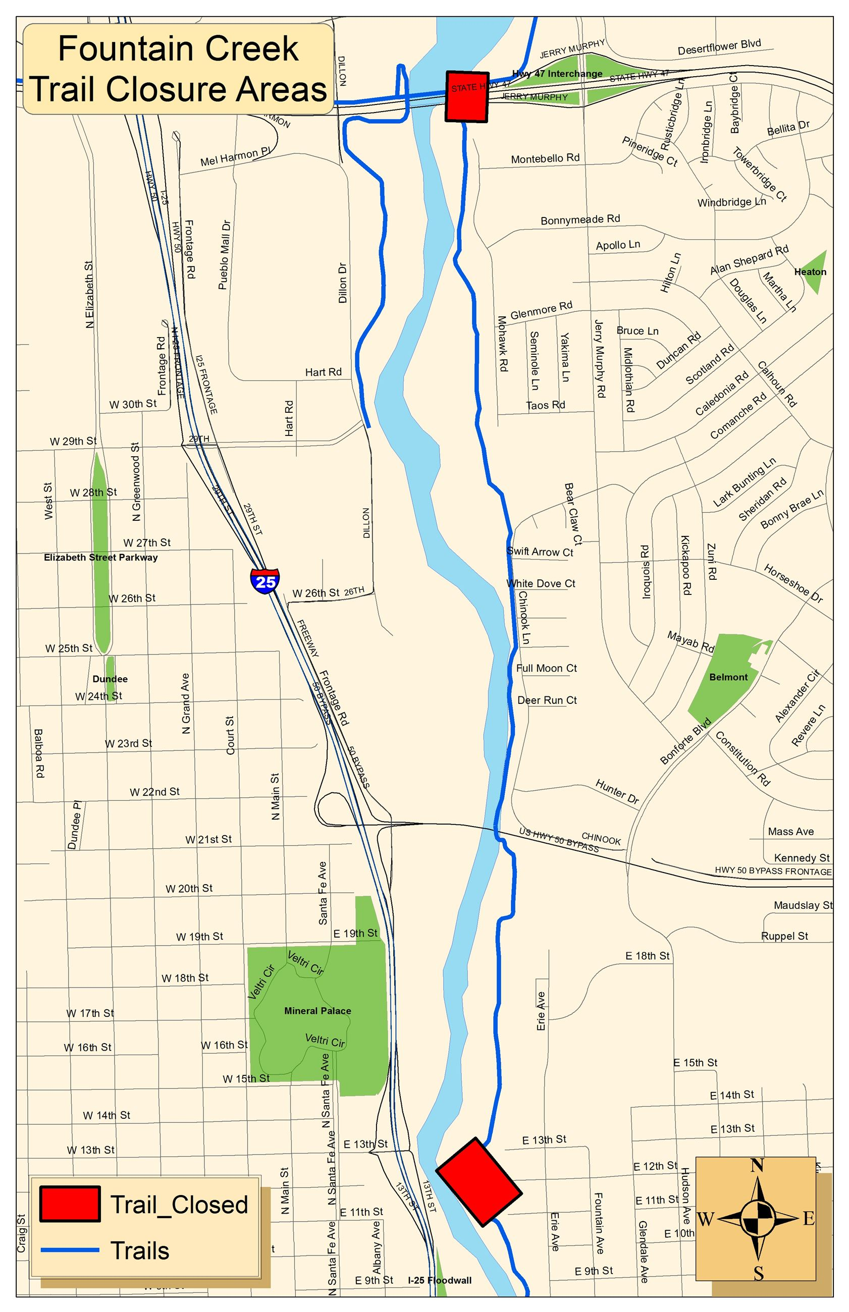 Fountain River Trail Closure Areas 111615 3