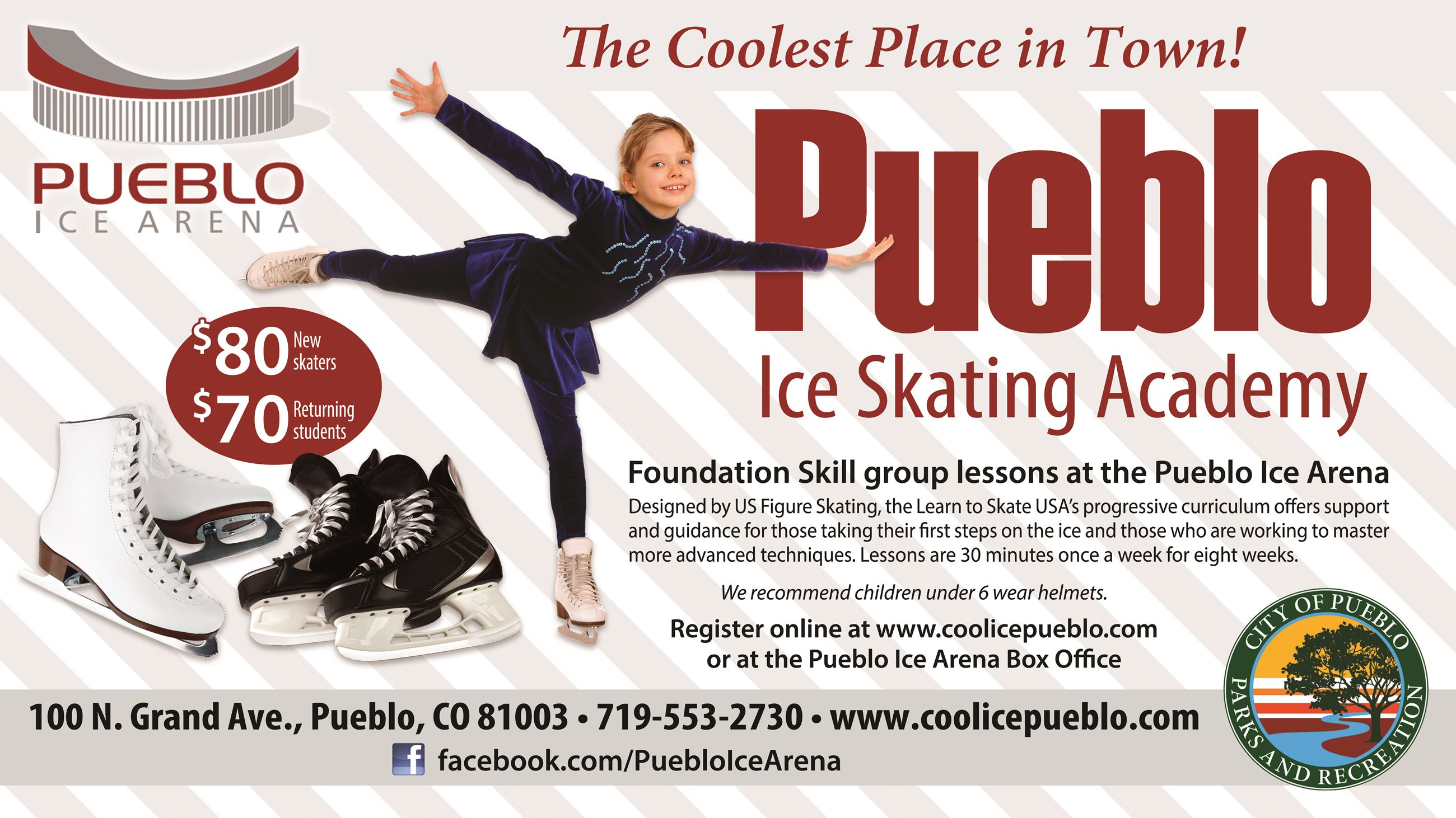 image of ice skating academy information