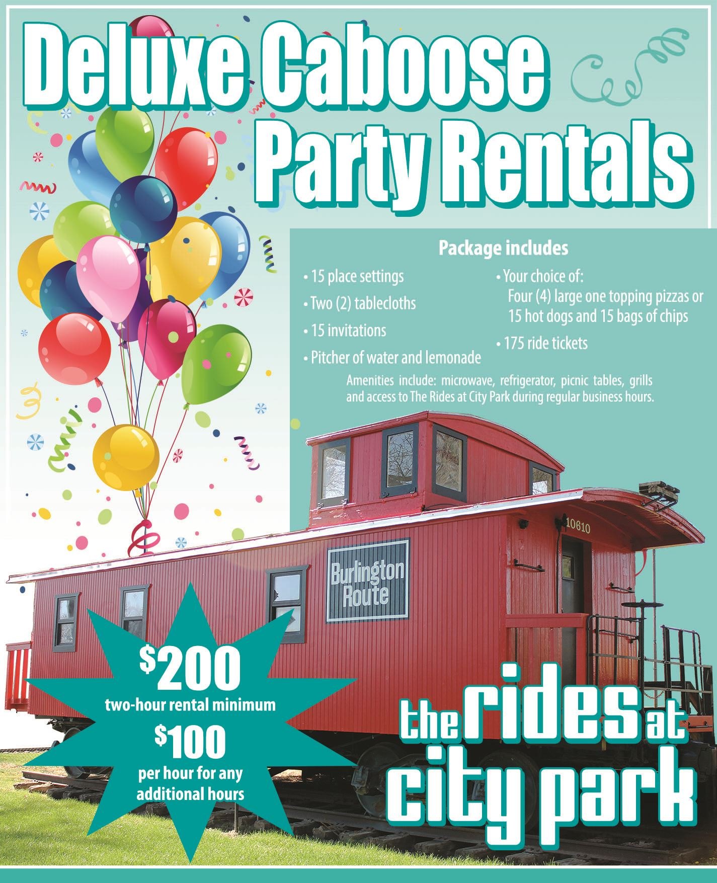 2017 The Rides at City Park Caboose Rental