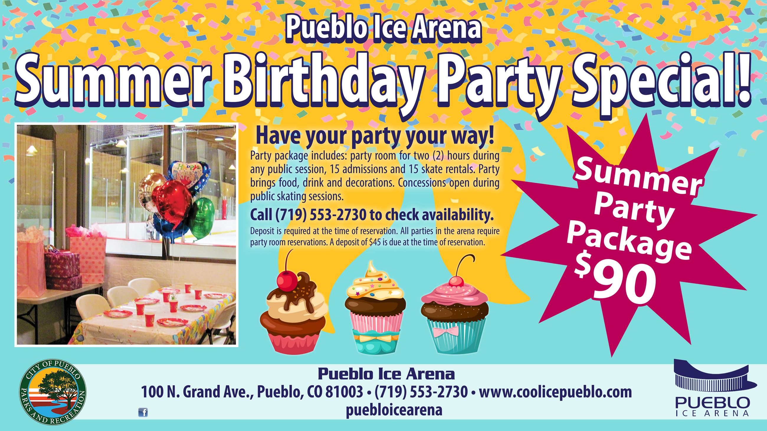 Image of Ice Arena Summer Birthday Special