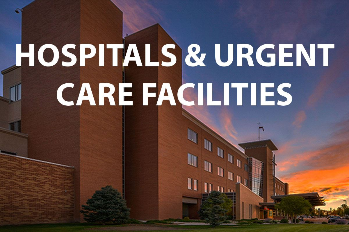 hospitals & urgent care facilities