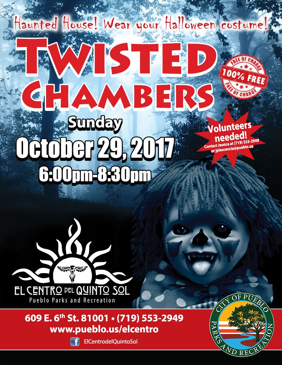 El Centro's Twisted Chambers Haunted House will be Sunday October 29 at 6:30 PM