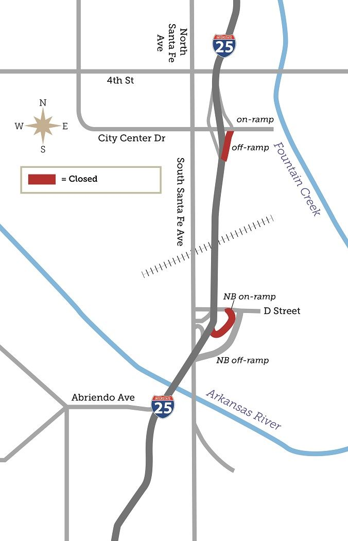 City Center Drive Off Ramp Closure