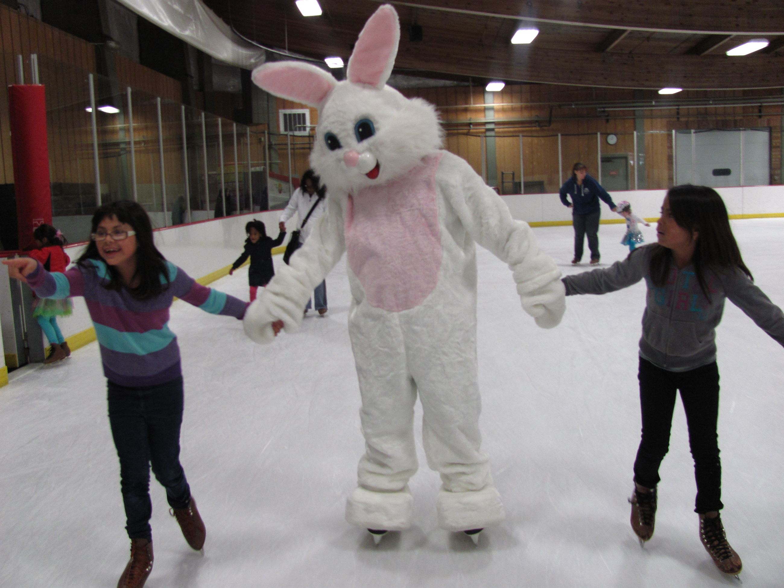 Image of Skating with the Easter Bunny