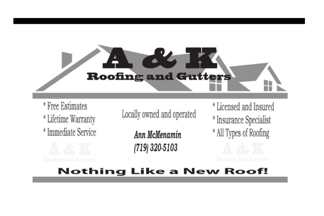 A and K Roofing logo image