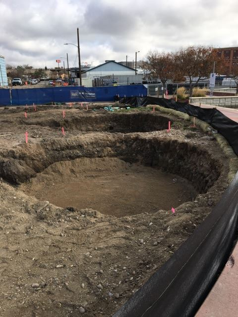 Planter Excavation Opens in new window