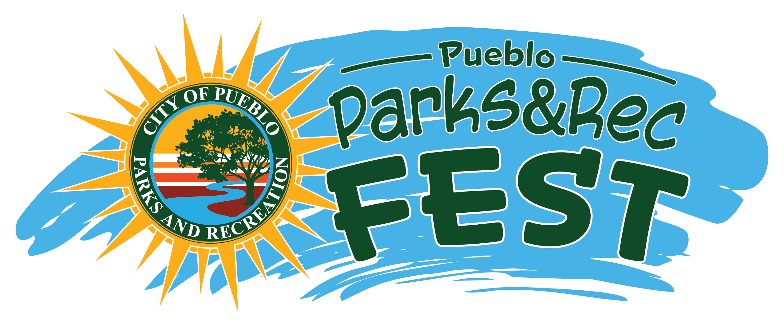 PPR Fest logo with clouds sun and text