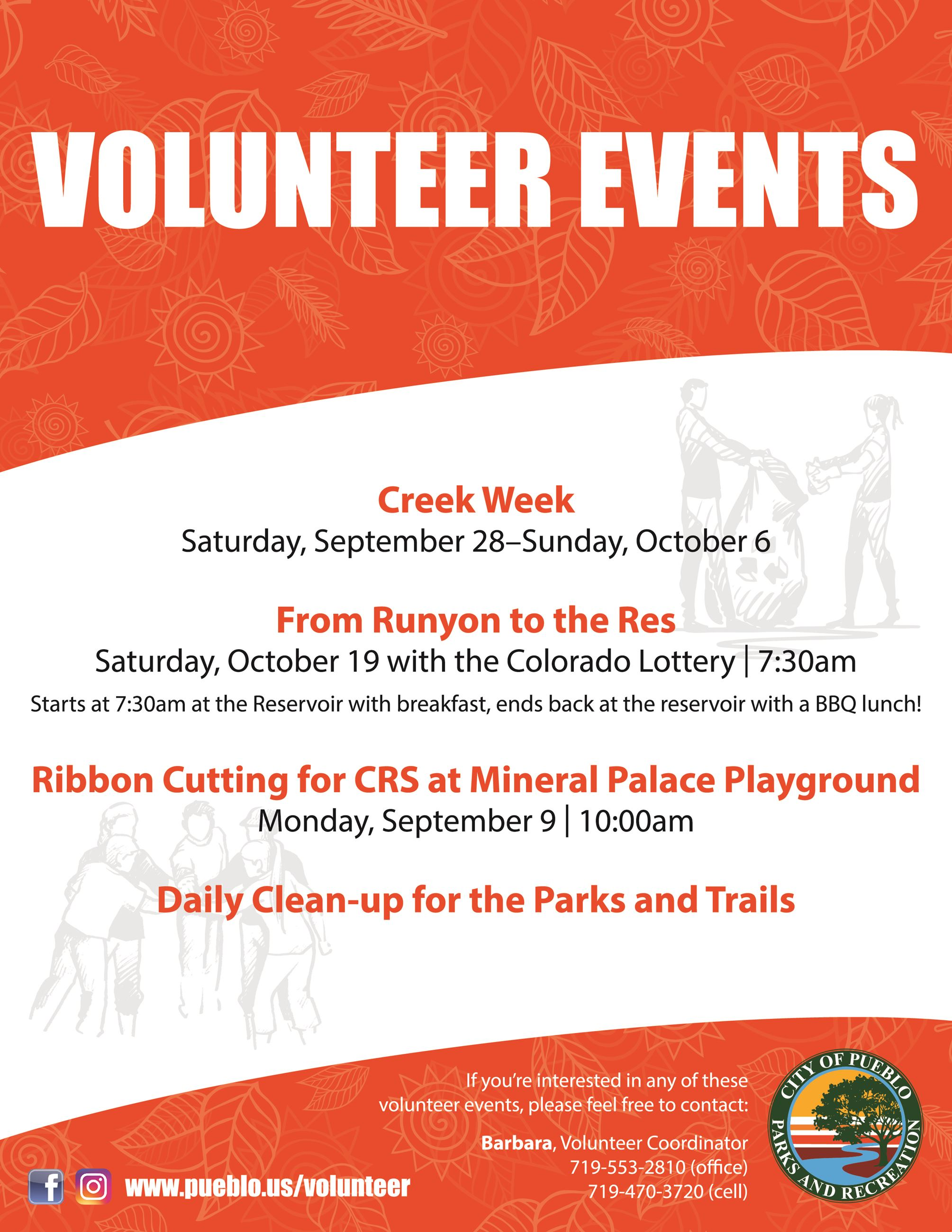 List of upcoming volunteer events