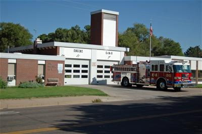 Engine 8 outside of Station 8