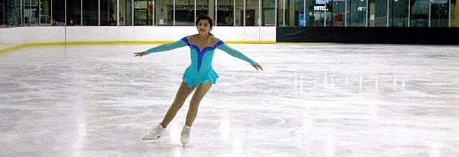 Image of figure skater practicing
