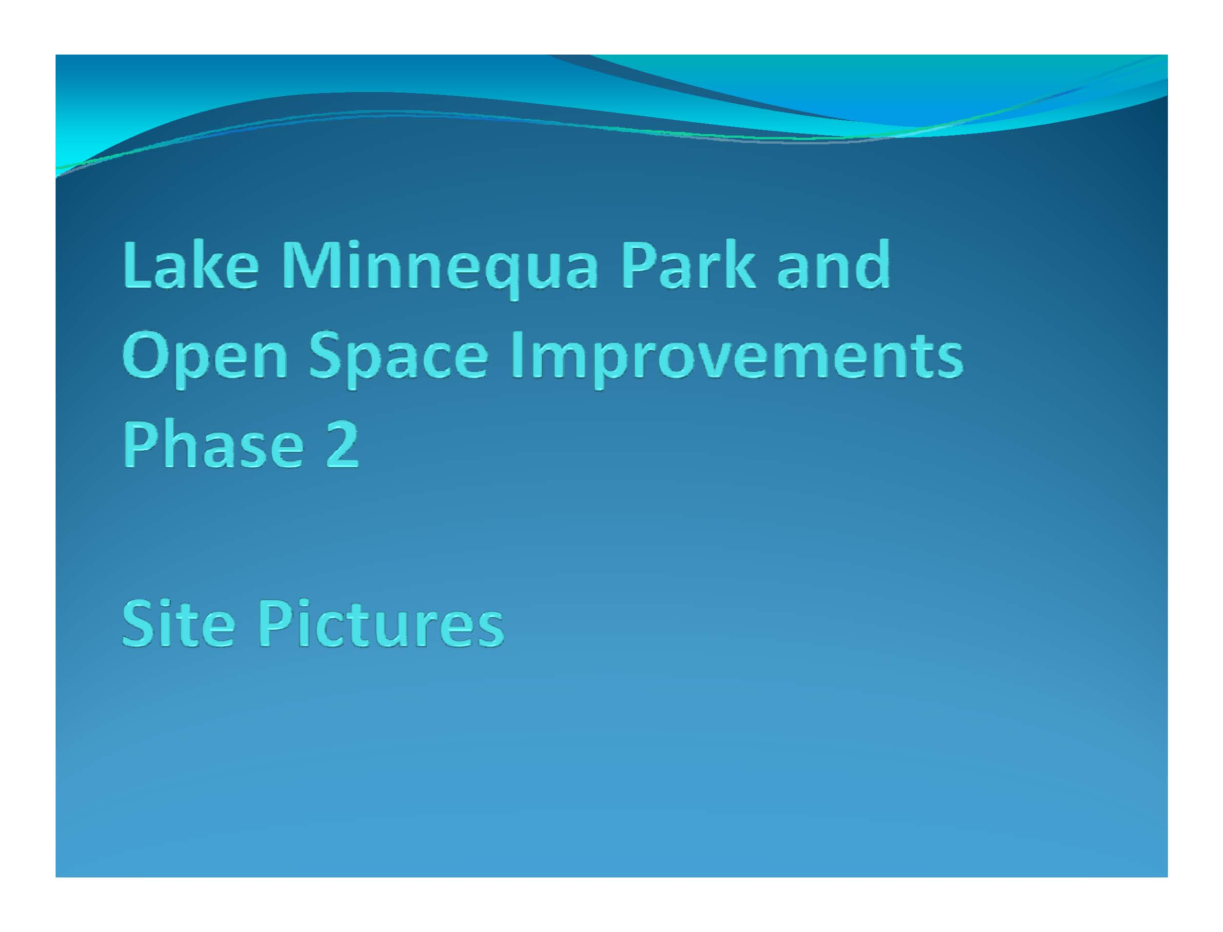 099Lake Minnequa Park and Open Space Improvements