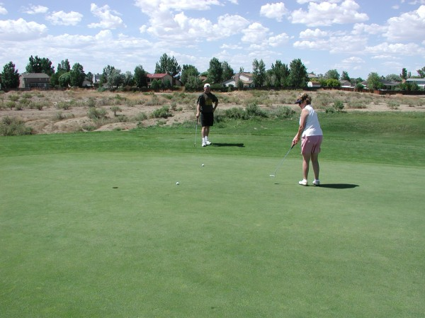 Putting at Walking Stick Golf Course