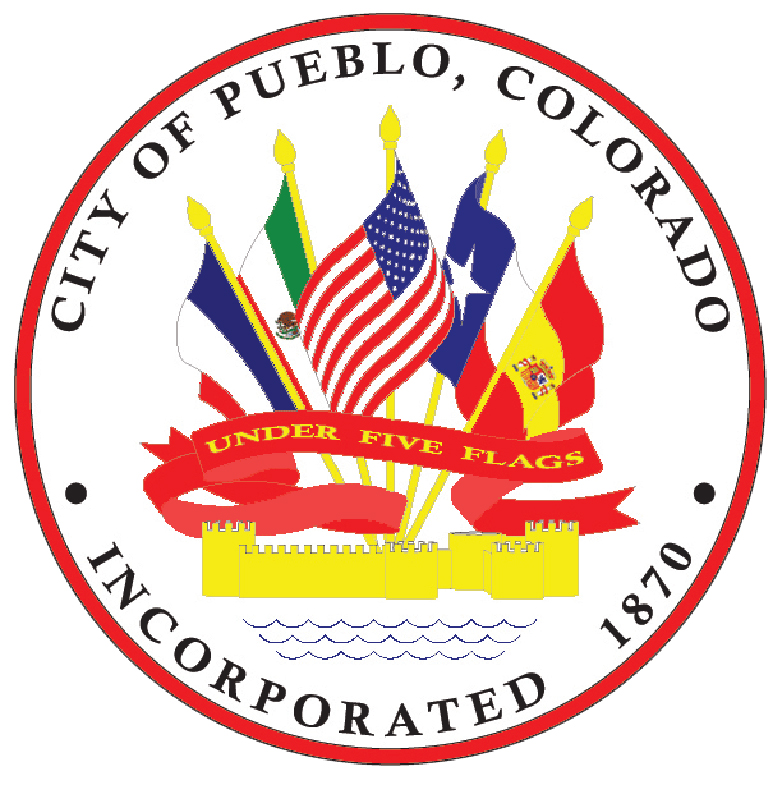 img City of Pueblo seal under five flags img incorporated 1870