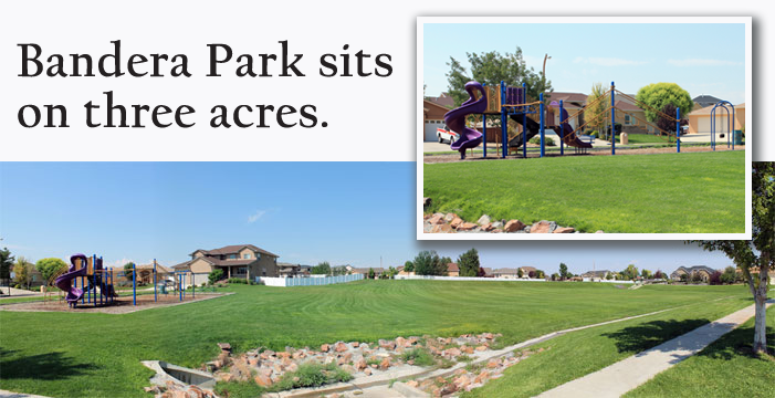 Bandera Park sits on 3 acres