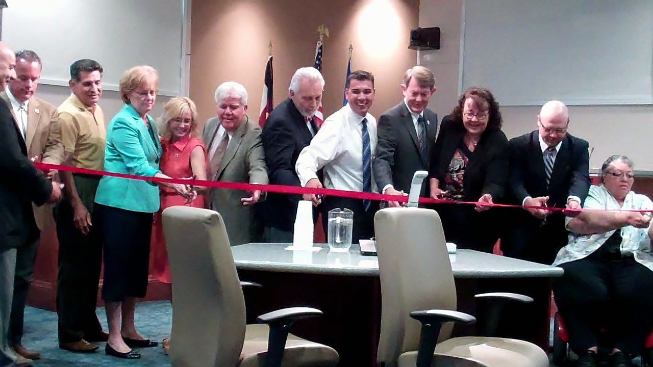 City Hall Council Chambers Ribbon Cutting